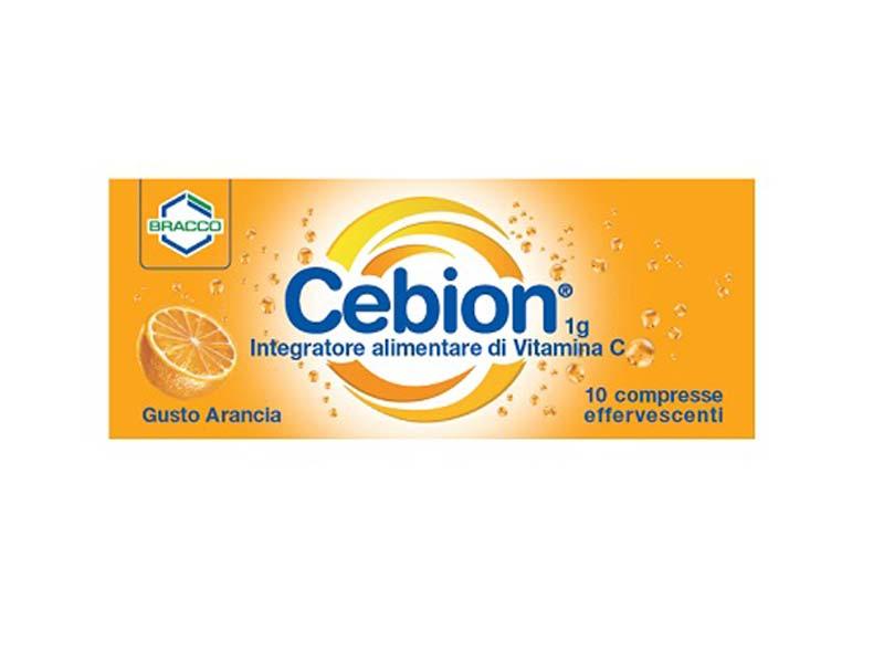CEBION VITAMINA C GUSTO ARANCIA 10 COMPRESSE EFFERVESCENTI