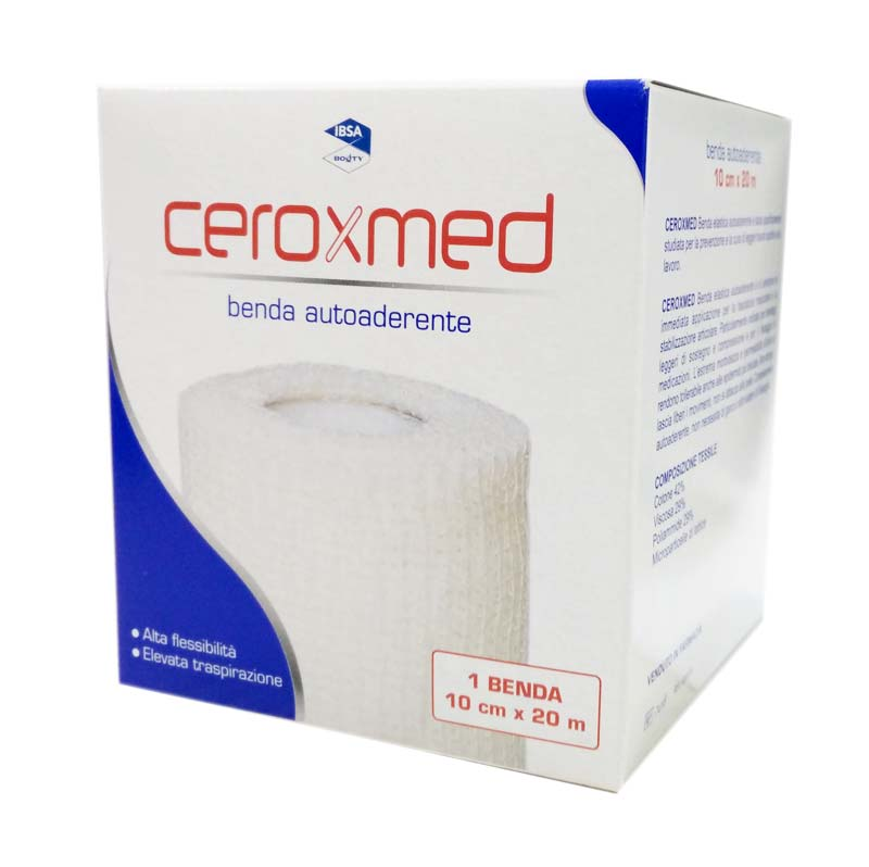 CEROXMED BENDA ELASTICA AUTOADERENTE 10 CM x 20 M