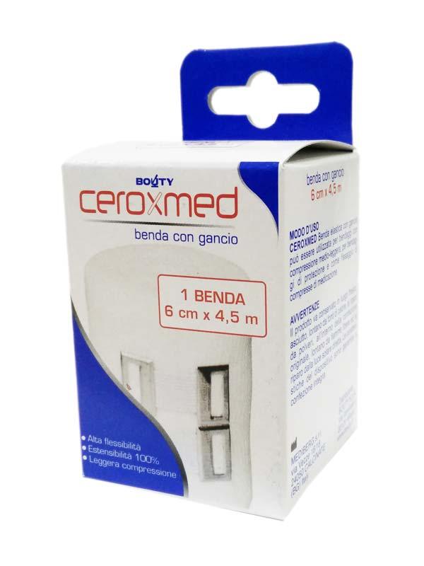 CEROXMED BENDA ELASTICA CON GANCIO 6 CM x 4.5 M