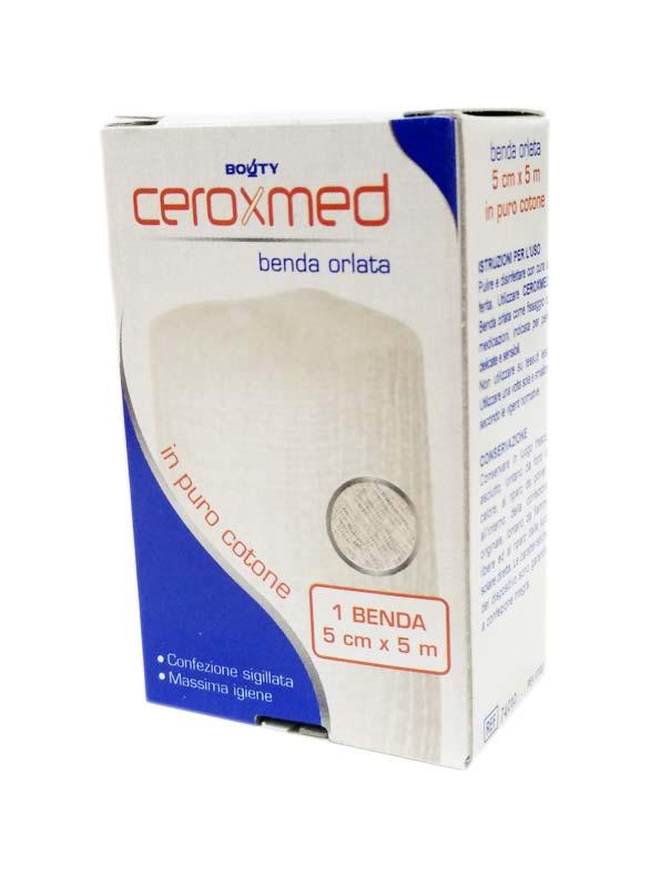 CEROXMED BENDA ORLATA IN COTONE 5 CM x 5 M