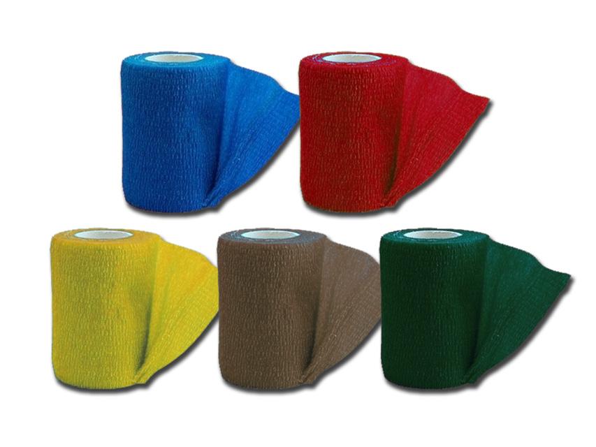 COHESIVE NON WOVEN ELASTIC BANDAGE - 4.5 m x 7.5 cm - 5 colours