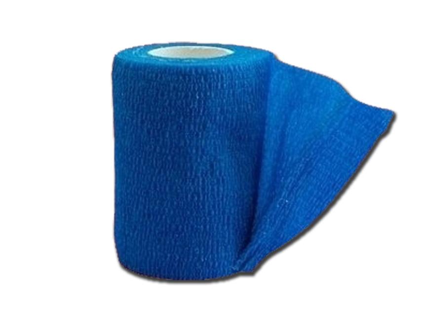 COHESIVE NON WOVEN ELASTIC BANDAGE - 4.5 m x 7.5 cm - blue