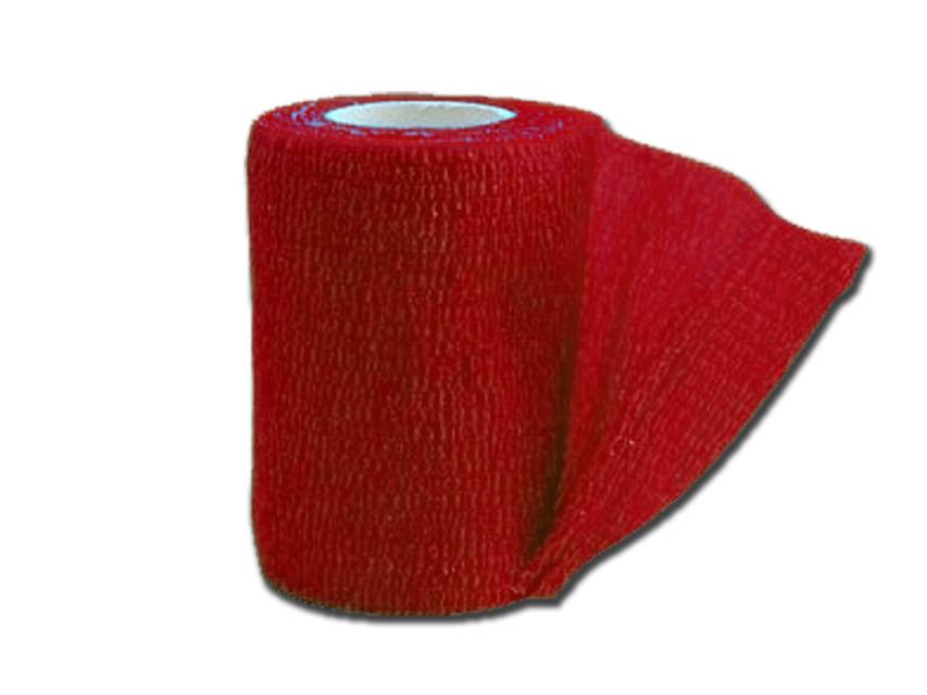 COHESIVE NON WOVEN ELASTIC BANDAGE - 4.5 m x 7.5 cm - red