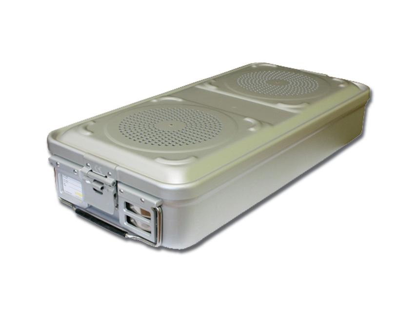 CONTAINER STANDARD 580 x 280 x h 100 mm - 2 filtri - n.p. - grigio