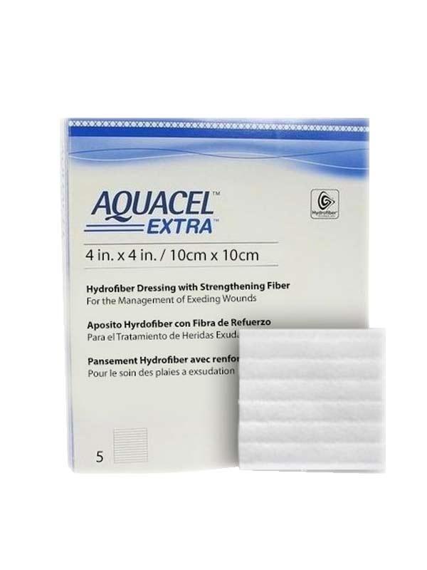CONVATEC AQUACEL EXTRA HYDROFIBER MEDICAZIONE STERILE 5 PEZZI DA 10x10 CM