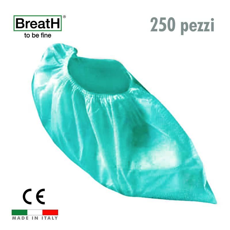 Copriscarpe monouso TNT verde con elastico - confezione 250 pezzi