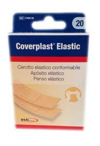 COVERPLAST ELASTIC CEROTTO ELASTICO CONFORMABILE - 12 PEZZI DA 7,6 x 2,5 CM + 8 PEZZI DA 7,6 x 1,9 CM