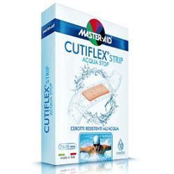 CUTIFLEX STRIP ACQUA STOP CEROTTO GRANDE IMPERMEABILE TRASPARENTE - 10 PEZZI DA 7,8 x 2,6 CM