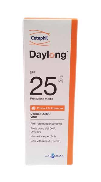DAYLONG DERMA FLUIDO VISO PROTECT AND PRESERVE SPF 25 PROTEZIONE MEDIA - 50 ML