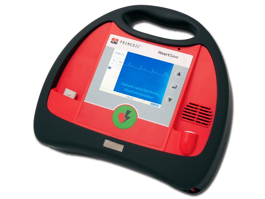 DEFIBRILLATORE HEART SAVE AED-M - con monitor + Akupak Lite - EN, IT, ES, FR