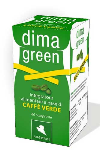 DIMA GREEN CAFFE' VERDE INTEGRATORE ALIMENTARE UTILE PER IL CONTROLLO DEL PESO - 60 COMPRESSE