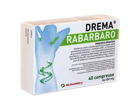 DREMA RABARBARO INTEGRATORE ALIMENTARE PER SUPPORTARE LA FUNZIONE DIGESTIVA - 40 COMPRESSE