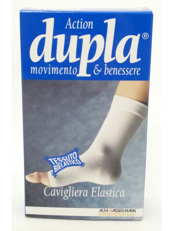 DUPLA ACTION CAVIGLIERA ELASTICA COLORE BIANCO TAGLIA XL DA 30 A 33 CM