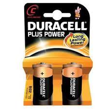 DURACELL PLUS POWER MEZZA TORCIA C MN1400 2 PEZZI