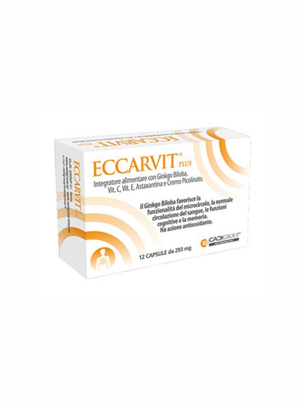ECCARVIT PLUS INTEGRATORE ALIMENTARE 12 CAPSULE