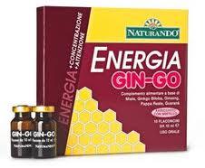 ENERGIA GIN-GO INTEGRATORE UTILE CONTRO STANCHEZZA FISICA E MENTALE - 10 FLACONCINI DA 10 ML