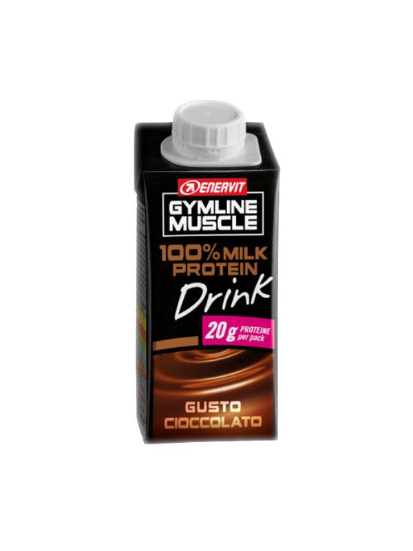 ENERVIT GYMLINE MUSCLE 100% MILK PROTEIN DRINK GUSTO CIOCCOLATO 200 ML