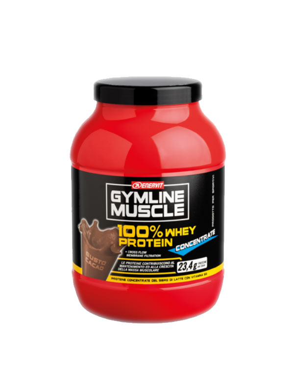 ENERVIT® GYMLINE MUSCLE 100% WHEY PROTEIN  CONCENTRATE GUSTO CACAO 1 KG