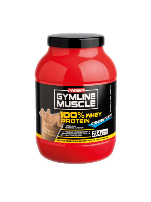 ENERVIT GYMLINE MUSCLE 100% WHEY PROTEIN CONCENTRATE GUSTO CAPPUCCINO 700 G