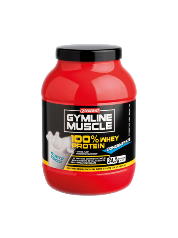 ENERVIT® GYMLINE MUSCLE 100% WHEY PROTEIN CONCENTRATE GUSTO COCCO 700 G