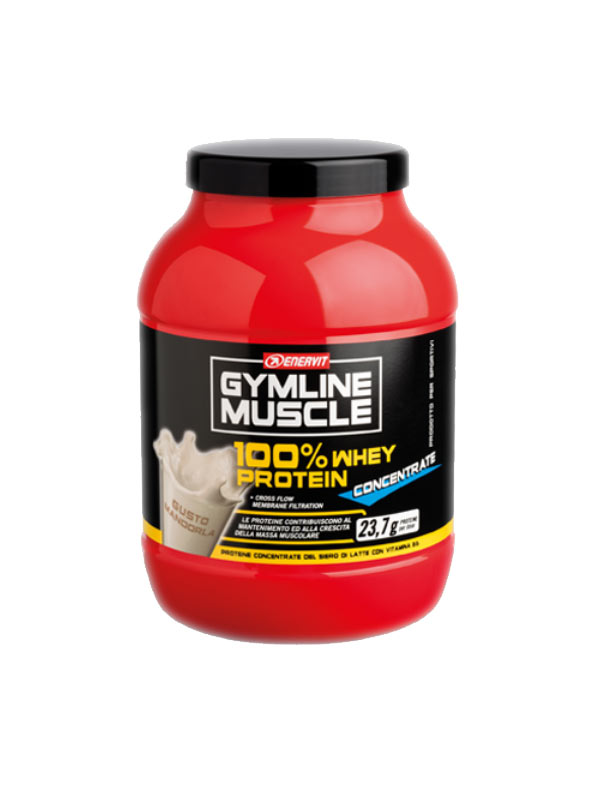 ENERVIT® GYMLINE MUSCLE 100% WHEY PROTEIN CONCENTRATE GUSTO MANDORLA 700 G
