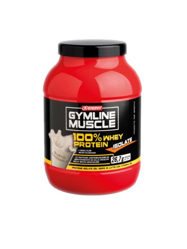 ENERVIT® GYMLINE MUSCLE 100% WHEY PROTEIN ISOLATE GUSTO MANDORLA 700 G