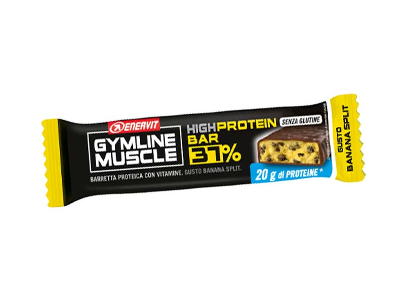 ENERVIT GYMLINE MUSCLE HIGH PROTEIN BAR 37% GUSTO BANANA SPLIT 54 G