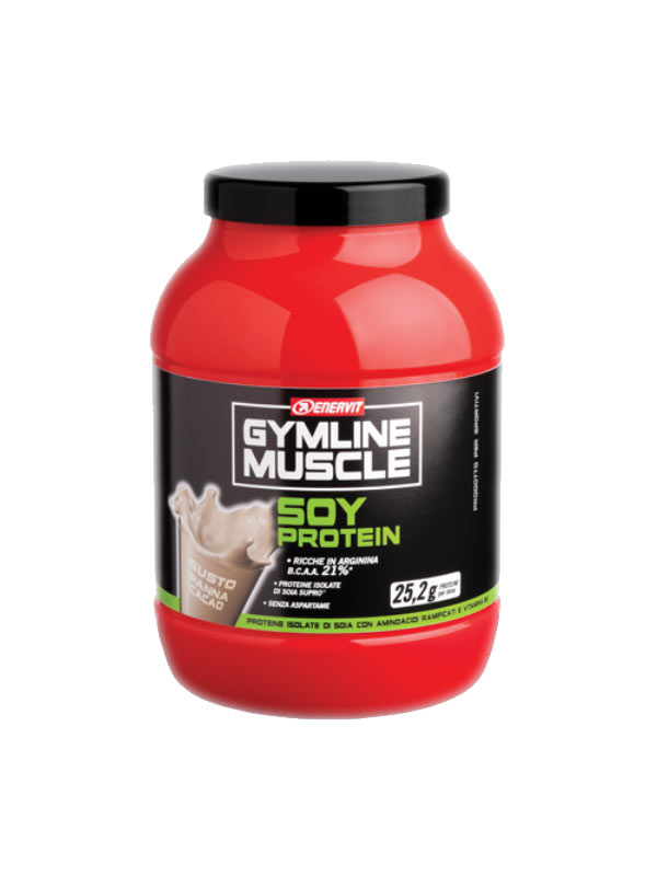 ENERVIT GYMLINE MUSCLE SOY PROTEIN GUSTO PANNA E CACAO 800 G