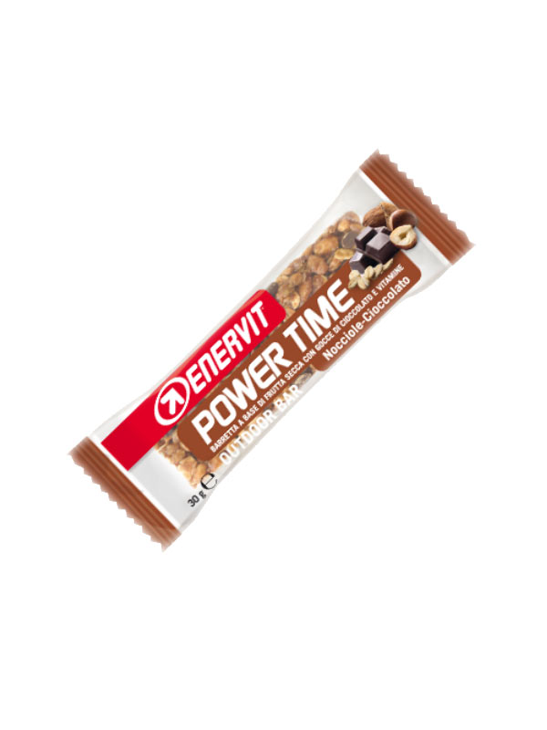 ENERVIT POWER TIME OUTDOOR BAR BARRETTA GUSTO NOCCIOLE E CIOCCOLATO 30 G