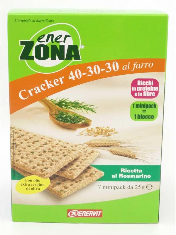 ENERZONA CRACKER 40-30-30 AL FARRO RICETTA AL ROSMARINO 7 MINIPACK DA 25 G