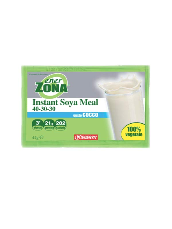 ENERZONA INSTANT SOYA MEAL 40-30-30 GUSTO COCCO 1 BUSTA DA 44 G