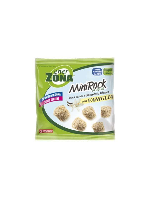 ENERZONA MINIROCK CIOCCOLATO BIANCO E VANIGLIA SENZA GLUTINE 24 G