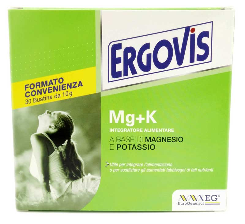 ERGOVIS MG+K MAGNESIO E POTASSIO EG 30 BUSTE DA 10 G