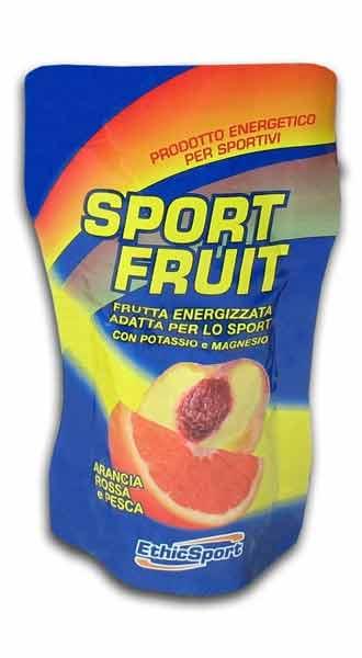 ETHIC SPORT SPORT FRUIT - FRUTTA ENERGIZZATA ADATTA PER LO SPORT GUSTO ARANCIA ROSSA E PESCA - 42 G