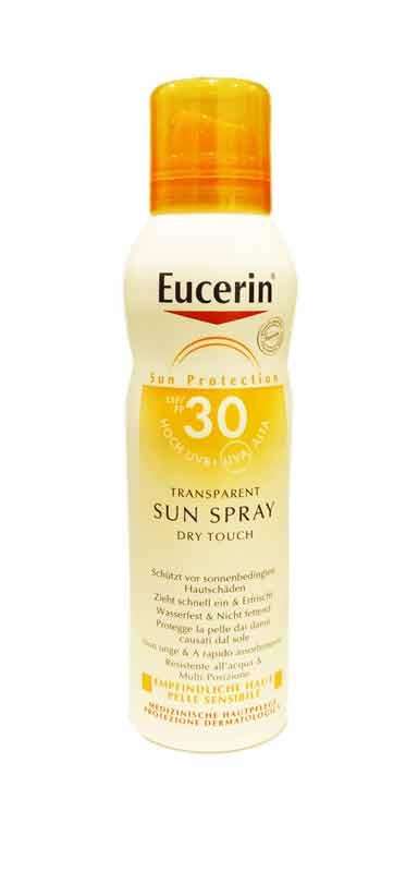 EUCERIN TRANSPARENT SUN SPRAY DRY TOUCH SPF 30 - 200 ML