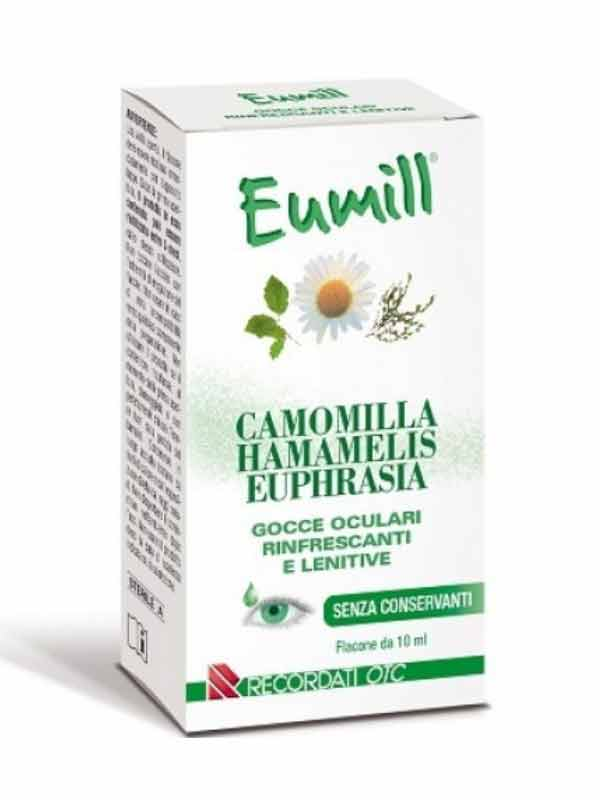 EUMILL FLACONE GOCCE OCULARI CAMOMILLA HAMAMELIS E EUPHRASIA 10 ML