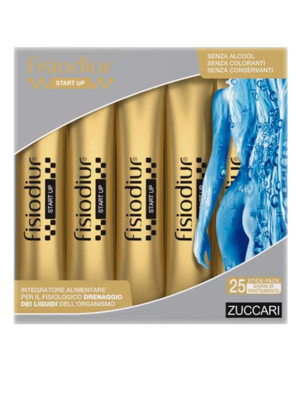 FISIODIUR® START UP INTEGRATORE ALIMENTARE ZUCCARI 25 STICK DA 10 ML