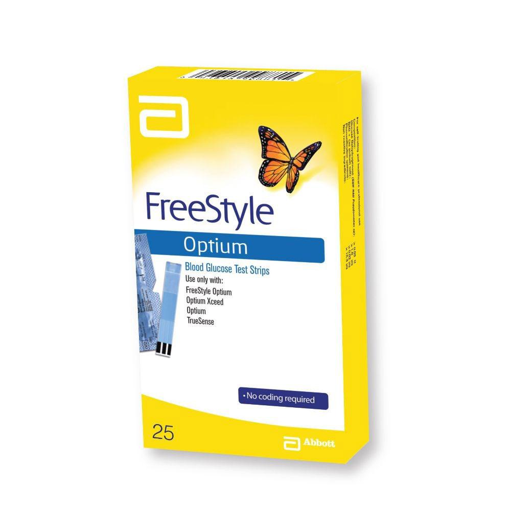 FREESTYLE OPTIUM STRISCE MONITORAGGIO GLICEMIA 25 PEZZI