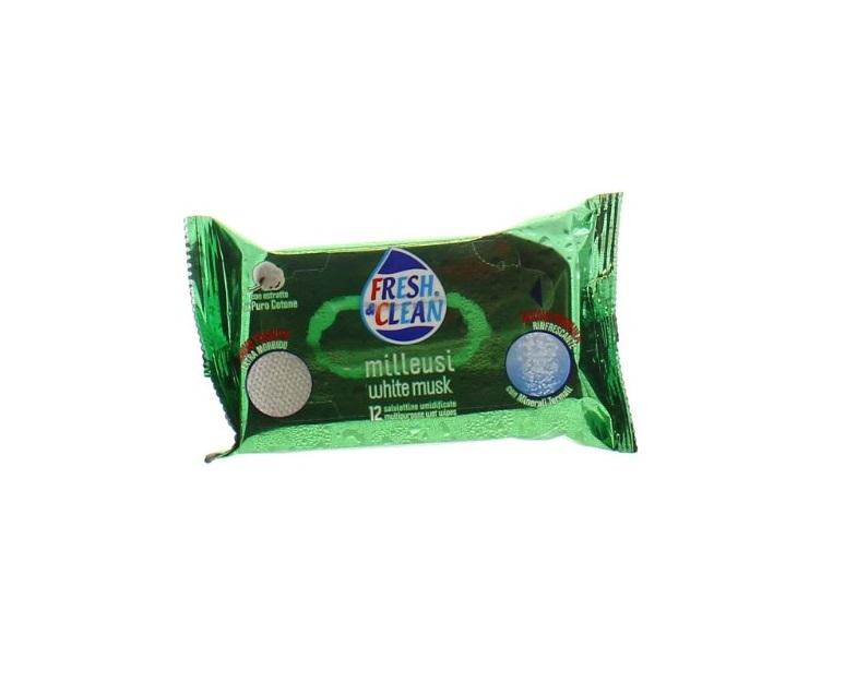 FRESH AND CLEAN SALVIETTINE MILLEUSI WHITE MUSK POCKET - 12 PEZZI