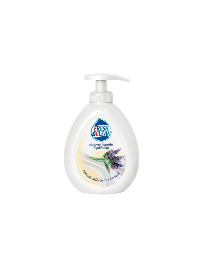 FRESH AND CLEAN SAPONE LIQUIDO ESTRATTO DI SETA E LAVANDA - 300 ML