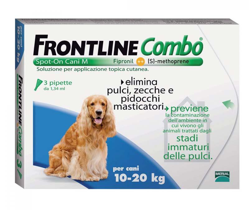 FRONTLINE COMBO® SPOT ON CANI 10-20 KG 3 PIPETTE DA 1,34 ML