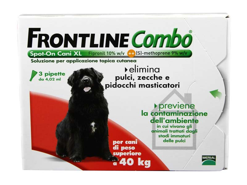 FRONTLINE COMBO® SPOT ON CANI OLTRE 40 KG 3 PIPETTE DA 4,02 ML