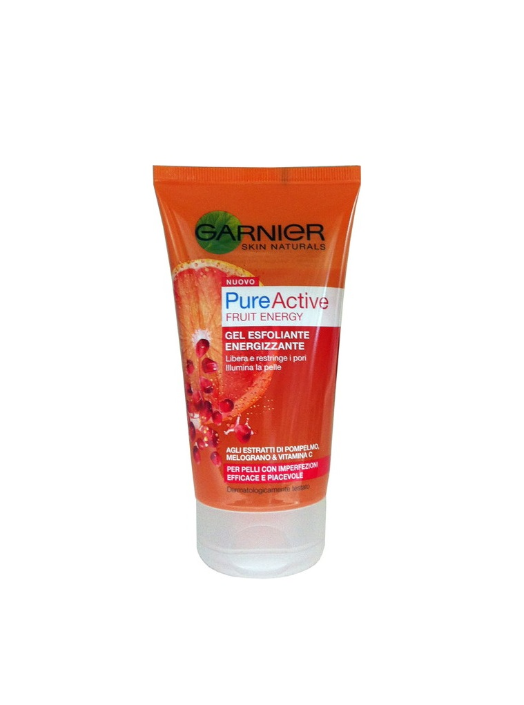 GARNIER PURE ACTIVE FRUIT ENERGY GEL ESFOLIANTE ENERGIZZANTE - 150 ML