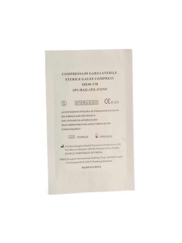 GARZA IDROFILA STERILE COMPRESSA 400024 - 18 x 40 CM