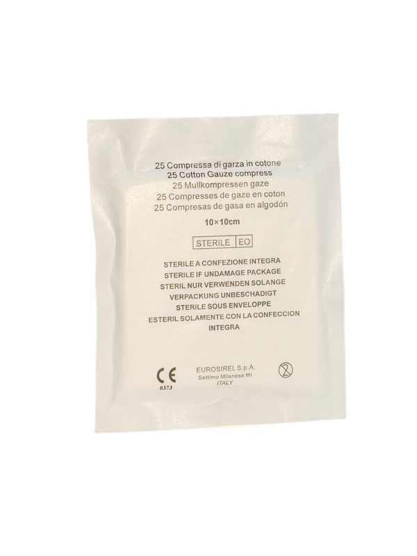 GARZA IDROFILA STERILE COMPRESSA 400025 - 10 x 10 CM