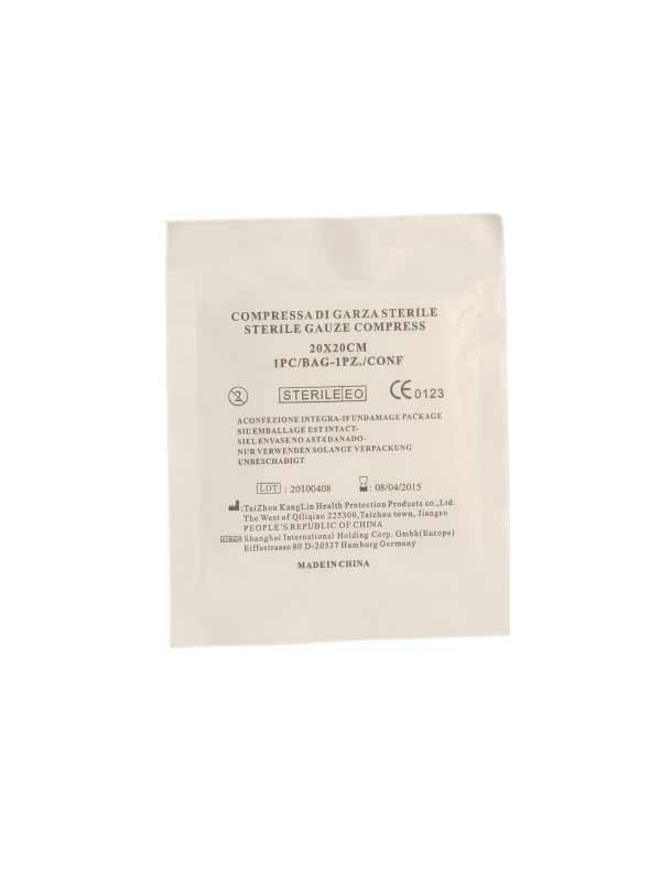 GARZA IDROFILA STERILE COMPRESSA 400049 - 20 x 20 CM