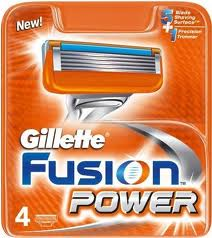 GILLETTE LAMETTE FUSION POWER 4 RICARICHE