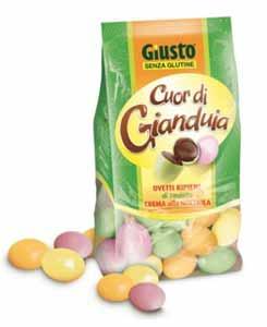 GIUSTO SENZA GLUTINE - CUOR DI GIANDUIA OVETTI CONFETTATI - 200 G