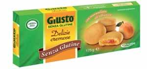 GIUSTO SENZA GLUTINE - DELIZIE CREMOSE ALL'ALBICOCCA - 175 G