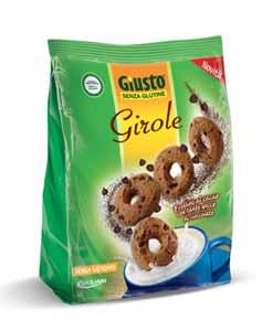 GIUSTO SENZA GLUTINE - GIROLE CIAMBELLINE AL CIOCCOLATO - 200 G
